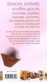 Glaces et delices glaces - 4ème de couverture - Format classique