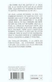 Le Dossier Lazare - 4ème de couverture - Format classique