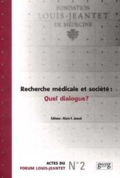 Recherche Medicale Et Societe - Couverture - Format classique
