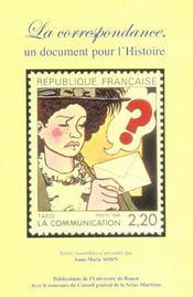 Correspondance Un Document Pour L'Histoire - Intérieur - Format classique