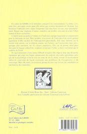 Correspondance Un Document Pour L'Histoire - 4ème de couverture - Format classique