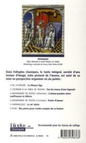 Le roman Tristan et Iseut ; texte intégral - 4ème de couverture - Format classique