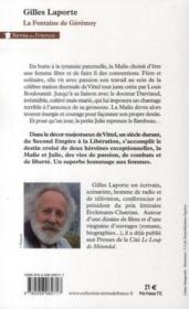La fontaine de Gérémoy - 4ème de couverture - Format classique