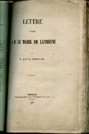 Lettre Adressee A M. Le Maire De Latresne. - Couverture - Format classique