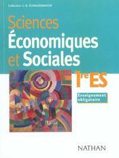 Sciences Economiques 1ere Es 1999 - Intérieur - Format classique