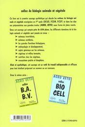 Agro Veto Colles B.A B.V.Biologie Animale Et Vegegetale - 4ème de couverture - Format classique