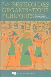 Gestion Des Organisations Publiques - Couverture - Format classique