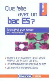 Que faire avec un bac es ? edition 2005 (édition 2005) - Intérieur - Format classique