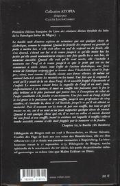 Le livre des subtilites des creatures divines du xii siecles t.2 ; arbres poissons animaux oiseaux - 4ème de couverture - Format classique