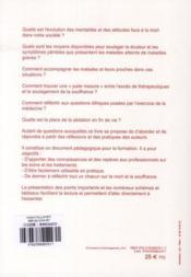 Soin palliatifs ; réflexions et pratiques - 4ème de couverture - Format classique
