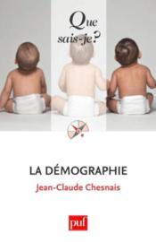La démographie (7e édition) - Couverture - Format classique
