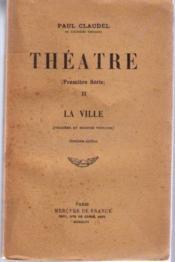 Theatre premiere serie tome 2 la ville - Couverture - Format classique