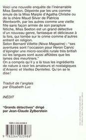 Miss Seeton Fait Des Vocalises - 4ème de couverture - Format classique