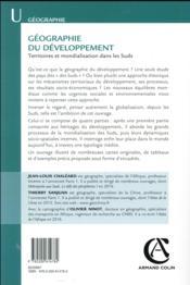Géographie du développement ; territoires et mondialisation dans les Suds - 4ème de couverture - Format classique