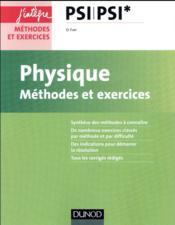 Physique ; méthodes et exercices ; PSI - Couverture - Format classique