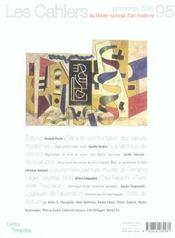 Cahiers Du Musee National D'Art Moderne N.95 ; Printemps 2006 - 4ème de couverture - Format classique