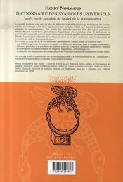 Dictionnaire Des Symboles Universels T.2 ; Base Sur Le Principe De La Clef De La Connaissance - 4ème de couverture - Format classique