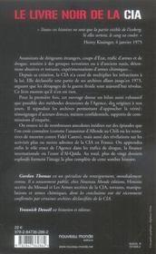 Le livre noir de la CIA - 4ème de couverture - Format classique