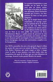 Avec les bouquinistes des quais de paris - 4ème de couverture - Format classique