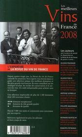 Le classement des meilleurs vins de france (édition 2008) - 4ème de couverture - Format classique