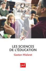 Les sciences de l'éducation - Couverture - Format classique