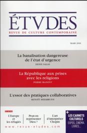 Revue études ; mars 2016 - Couverture - Format classique