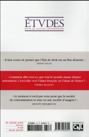 Revue études ; mars 2016 - 4ème de couverture - Format classique
