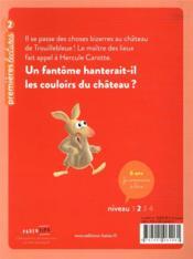 Hercule Carotte, détective T.1 ; un fantôme à Trouillebleue - 4ème de couverture - Format classique
