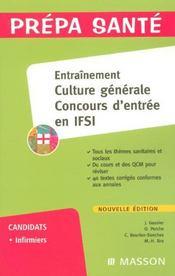 Entraînement ; concours d'entrée en IFSI ; culture générale - Intérieur - Format classique