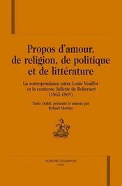 Propos d'amour, de religion, de politique et de littérature - Intérieur - Format classique