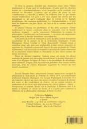 Islam Traditionnel Face Au Monde Moderne (L') - 4ème de couverture - Format classique