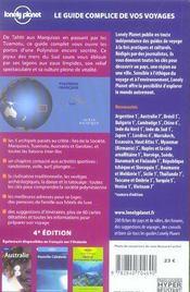 Tahiti et la polynesie francaise (4e edition) - 4ème de couverture - Format classique