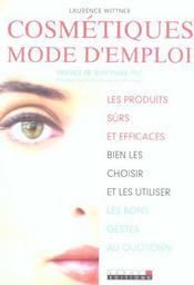 Cosmetiques Mode D'Emploi - Intérieur - Format classique