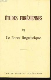 Le forez linguistique - Couverture - Format classique
