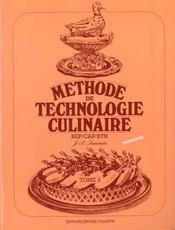 Methode de technologie culinaire t.2 ; livre du professeur - Intérieur - Format classique