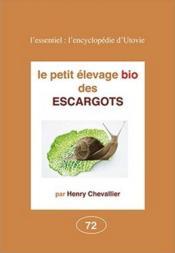 Les escargots élevages - Couverture - Format classique