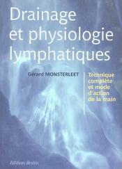 Drainage Et Physiologie Lymphatiques - Intérieur - Format classique