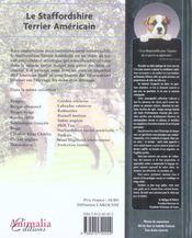 Le Staffordshire Terrier Americain - 4ème de couverture - Format classique