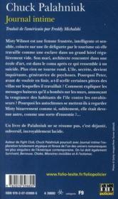 Journal intime - Couverture - Format classique