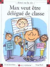 Max veut être délégué de classe - Intérieur - Format classique