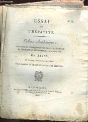 Essai Sur L Hepatite. N° 85. - Couverture - Format classique