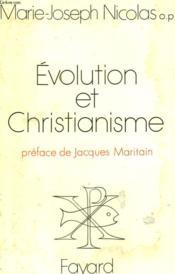 Evolution Et Christianisme. - Couverture - Format classique