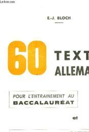 60 Textes Allemands - Couverture - Format classique