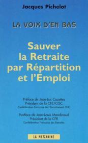 Sauver La Retraite Par Repartition De L'Emploi - Couverture - Format classique