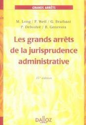 Les Grands Arrets De La Jurisprudence Administrative - Intérieur - Format classique