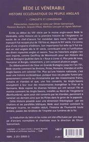 Histoire Ecclesiastique Du Peuple Anglais T1 - 4ème de couverture - Format classique