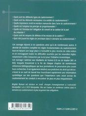 Droit Du Cautionnement - 4ème de couverture - Format classique