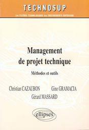 Management de projet technique methodes et outils - Intérieur - Format classique