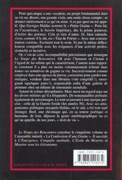 Temps Des Rencontres (Le) - 4ème de couverture - Format classique