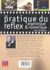 La Pratique Du Reflex Argentique Et Numerique - 4ème de couverture - Format classique